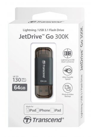 Внешний накопитель Transcend JetDrive Go 300S 32GB для iPhone/iPad/iPod